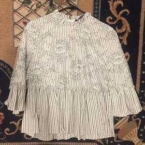 Zara Lace Overlay Shirt